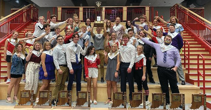 The Southmont seniors stand with the Journal Review County Chase tropy, which they helped win for a third-straight year.