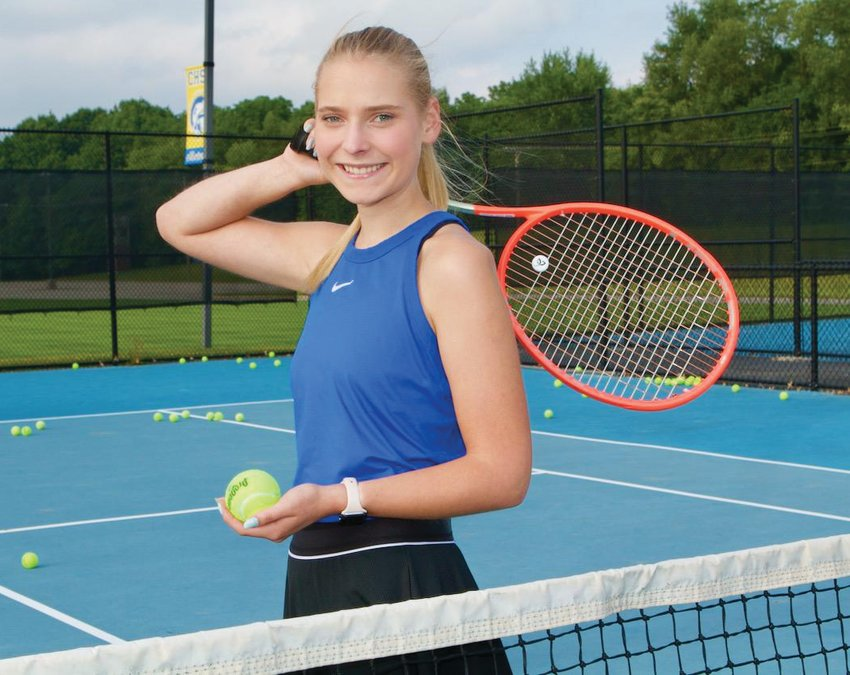 Crawfordsville senior Lauren Hale is the 2021 Journal Review Girls' Tennis Player of the Year.