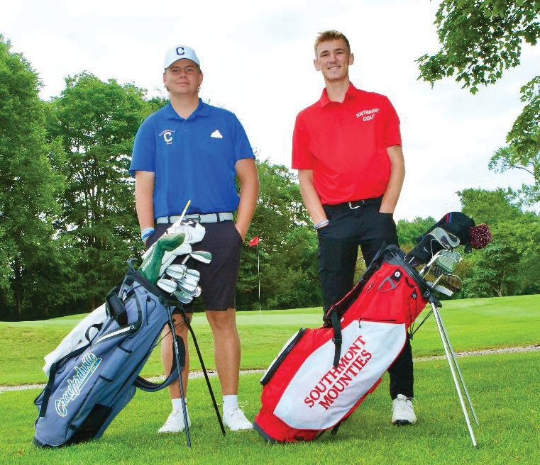 Crawfordsville junior Luke Ranard and Southmont senior Micah Korhorn are the Journal Review Boys Golf Co-Player of the Year.