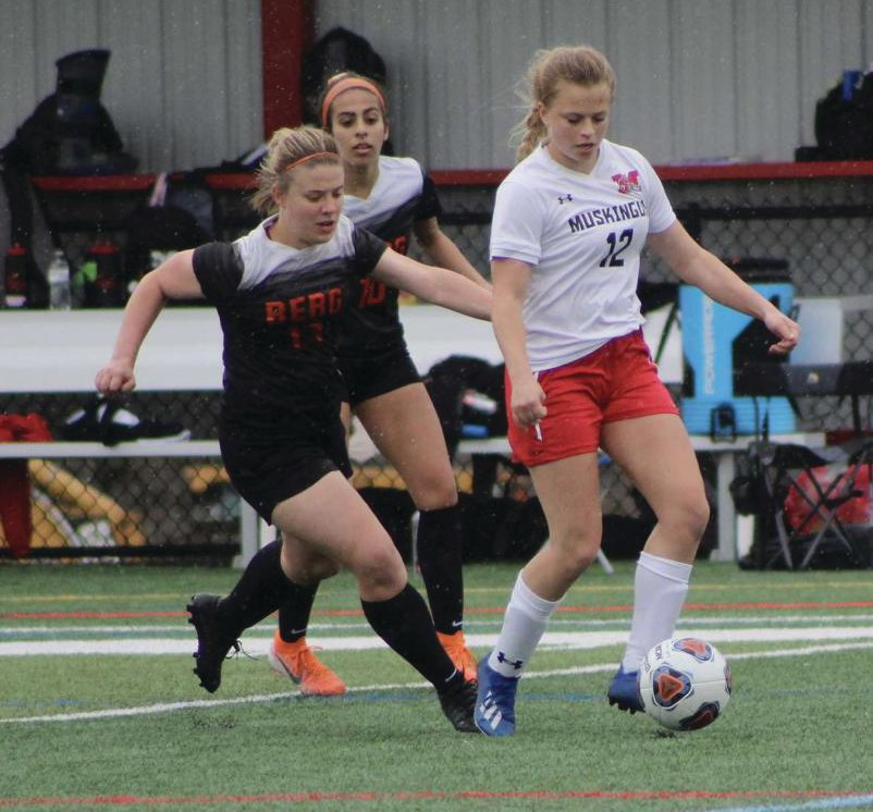 Macy Zachary, left, played three years of soccer at Heidelberg University before graduating early. The Southmont grad also played lacrosse and was a cheerleader.