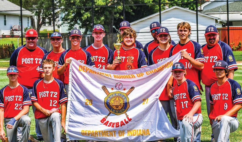 Post 72 earned a runner-up finish at the American Legion state tournament in Kokomo.