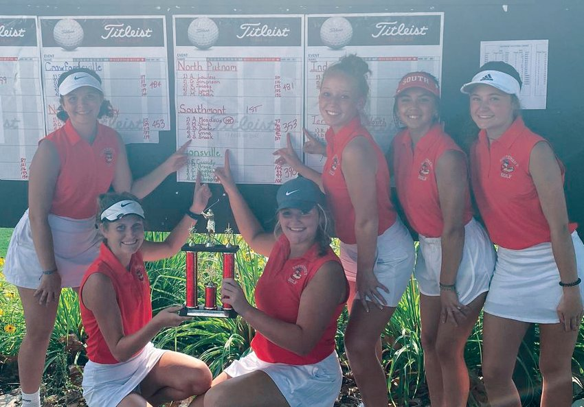 Led my medalist Addison Meadows, Southmont fired a 353 on Saturday to win the Mountie Invite at the Crawfordsville Country Club.