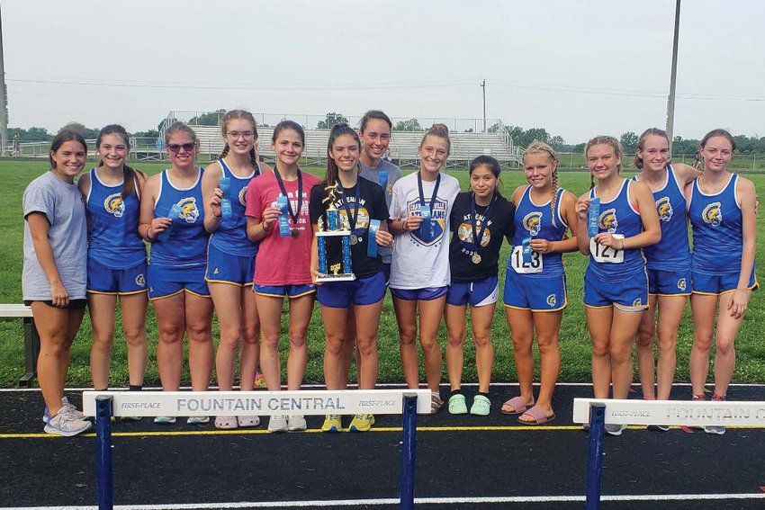 Crawfordsville's girls won the Fountain Central Grand Prix with a score of 43.