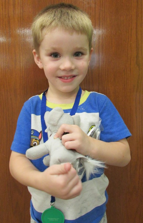 """RIGHT: Luke Bell, 4, has completed the Crawfordsville District Public Library program 1,000 Books Before Kindergarten. He is the son of Carissa Bell. Luke's favorite book is """"Go, Dog.Go! """" by P.D. Eastman. Mom said, """"It is a great program to help children read."""""""