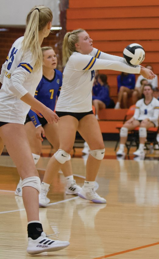 Crawfordsville junior Macy Bruton had 17 kills in a win at North Montgomery on Thursday.