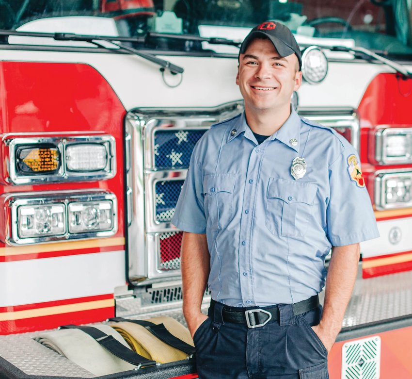 Kyle Hunt, firefighter/paramedic, with the Crawfordsville Fire Department.