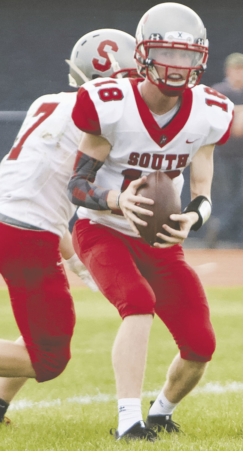 Southmont sophomore Trent Jones is in his first year as the Mountie's quarterback.