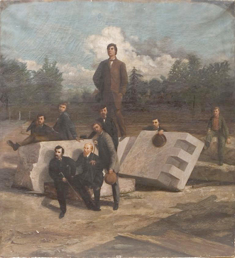 A painting depicting the men who conspired to assassinate President Abraham Lincoln was restored.