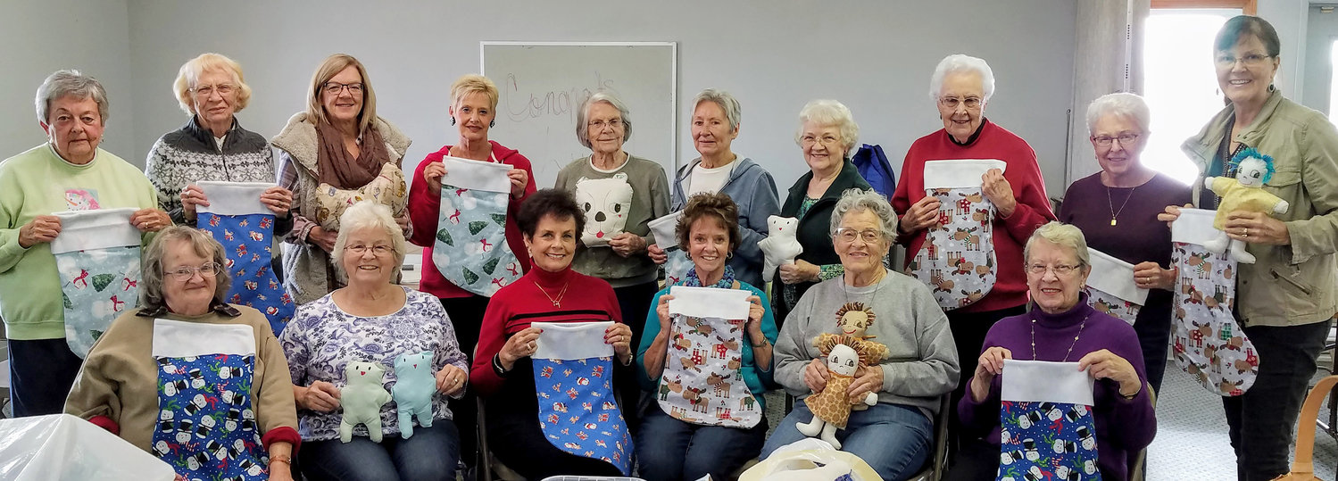The Mission Minded Merry Matrons (4-M's) sewing club meets the second Thursday of every month at the Linden United Methodist Church to create comforting gift pillows for recovering Franciscan Healthcare patients in both Crawfordsville and Lafayette..