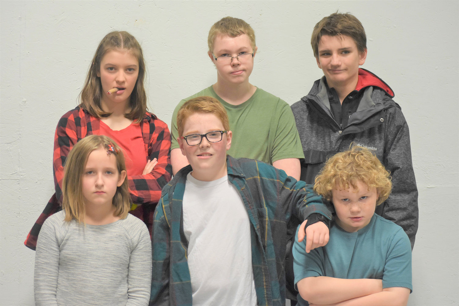 Picutred are Beth Turner, Cameron Tyo, Tarren McCarty, Emma Berry, Brayden Stedge and Caden Tyo..
