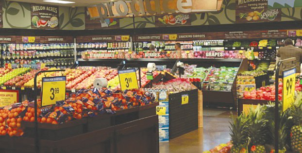 Kroger south is stocked with produce.