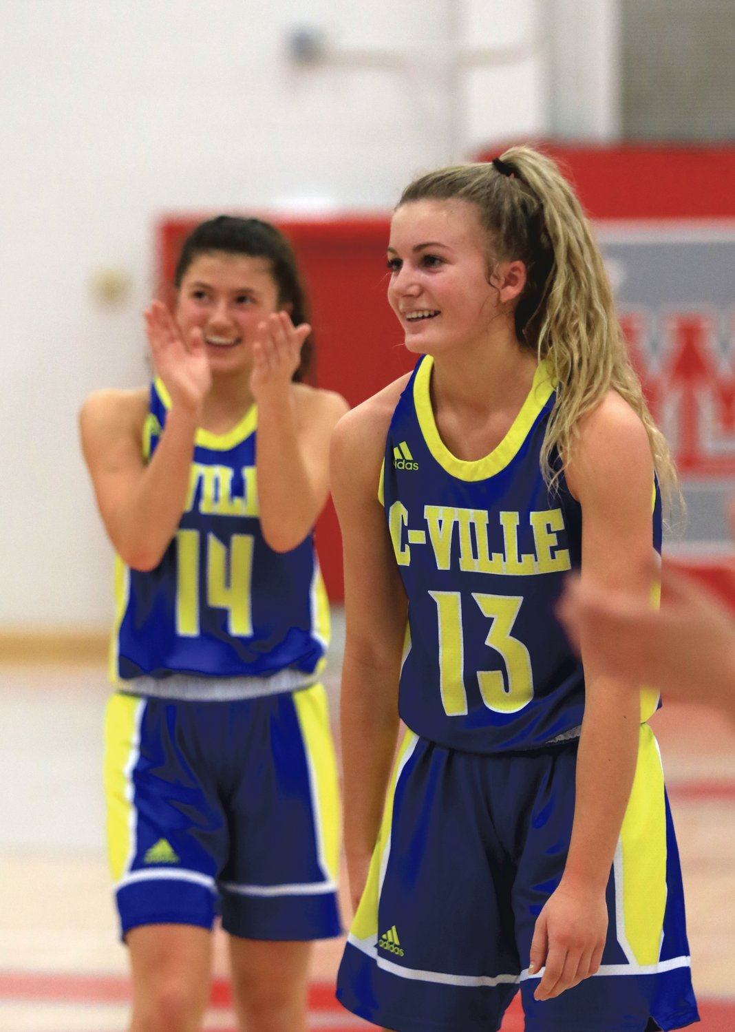 Crawfordsville's Lauren Kellerman is in disbelief after knocking down a free throw to secure her 1,000th point.