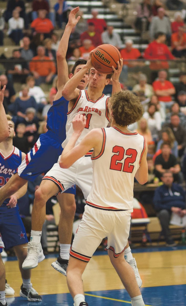 North Montgomery's Kade Kobel led the Chargers with 12 points in their 50-49 loss to Western Boone.