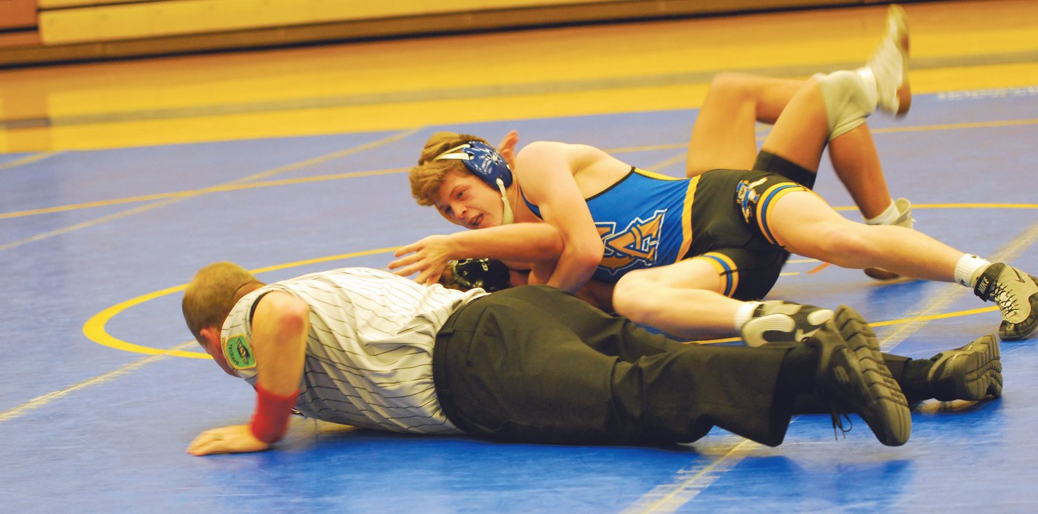 Crawfordsville's Isaac Rogers picked up a win by pin at 132 against South Vermillion.