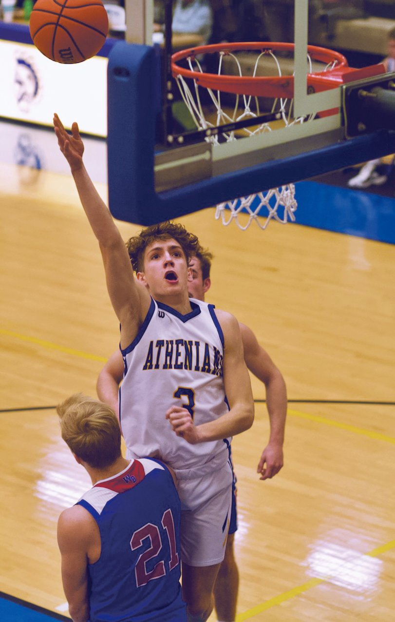 Ty Lynas scored six points off the bench for the Athenians in a 67-60 win.
