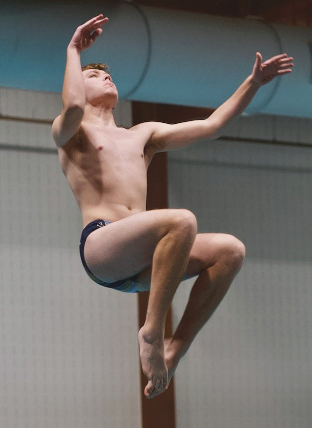 Fountain Central's Eric Medley was the diving sectional champion.