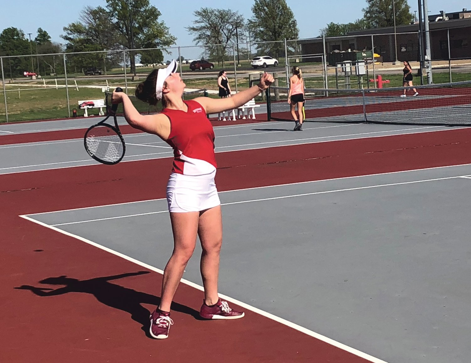 Southmont senior Sophie Reimondo and the Mounties' girls' tennis team are hoping they can compete for their first sectional title since 1996.