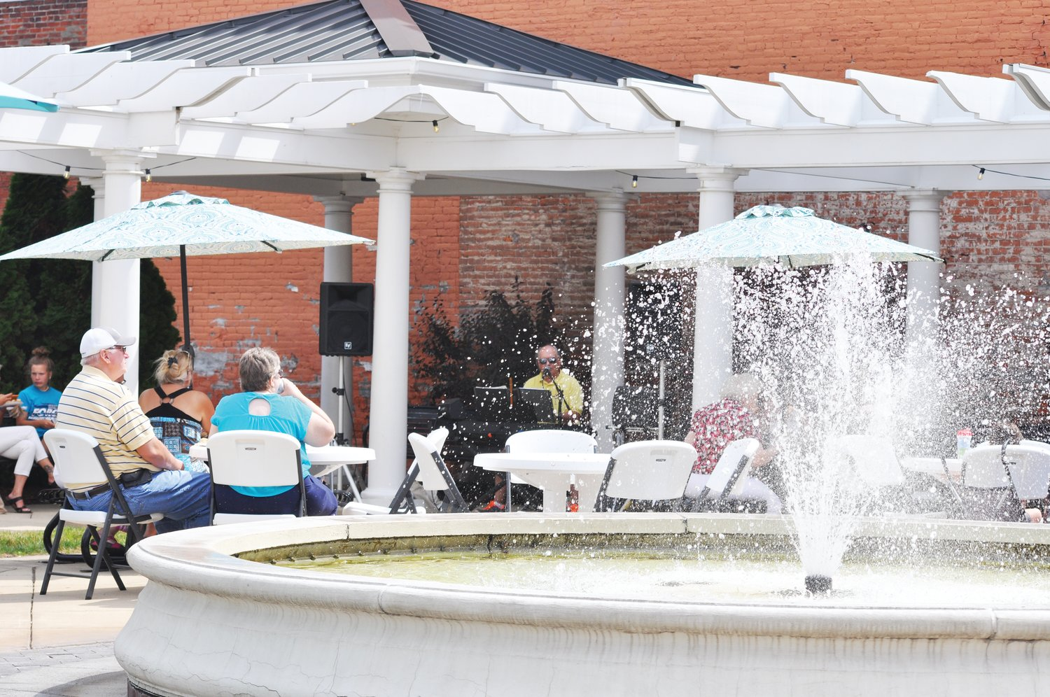 Marie Canine Plaza will again host Crawfordsville Main Street's Lunch on the Plaza series this summer. The Crawfordsville Board of Public Works & Safety gave approval Wednesday to proceed with additional COVID-19 pandemic precautions in place.