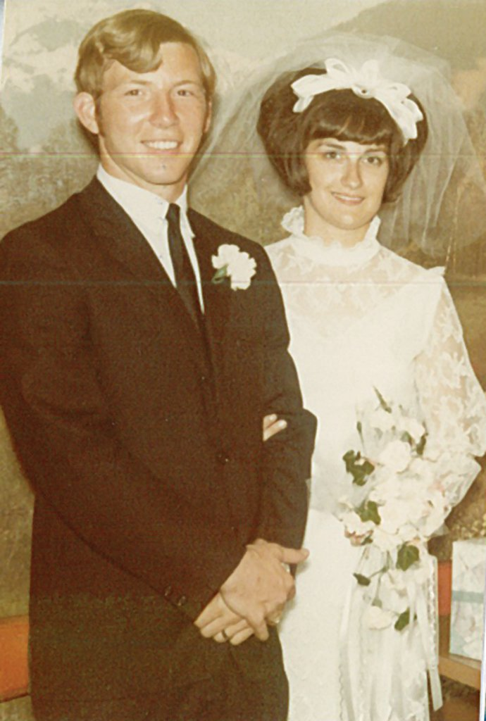 Rick and Becky Haas were married June 20, 1970, at Lebanon.