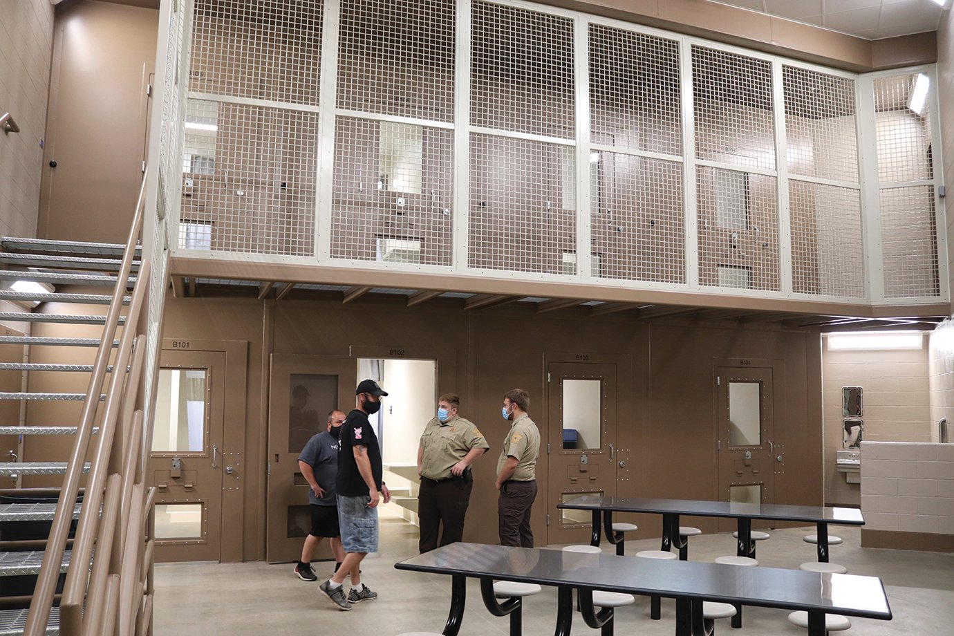 Fountain County Jail staff give tours of the new facility on Sunday during a four-hour open house ahead of a July 6 grand opening.