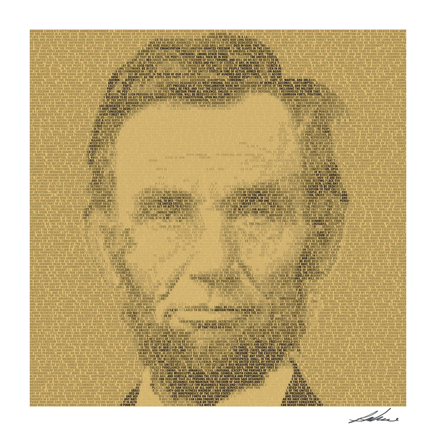 A portrait of Abraham Lincoln is part of the works by Bryce Culverhouse.