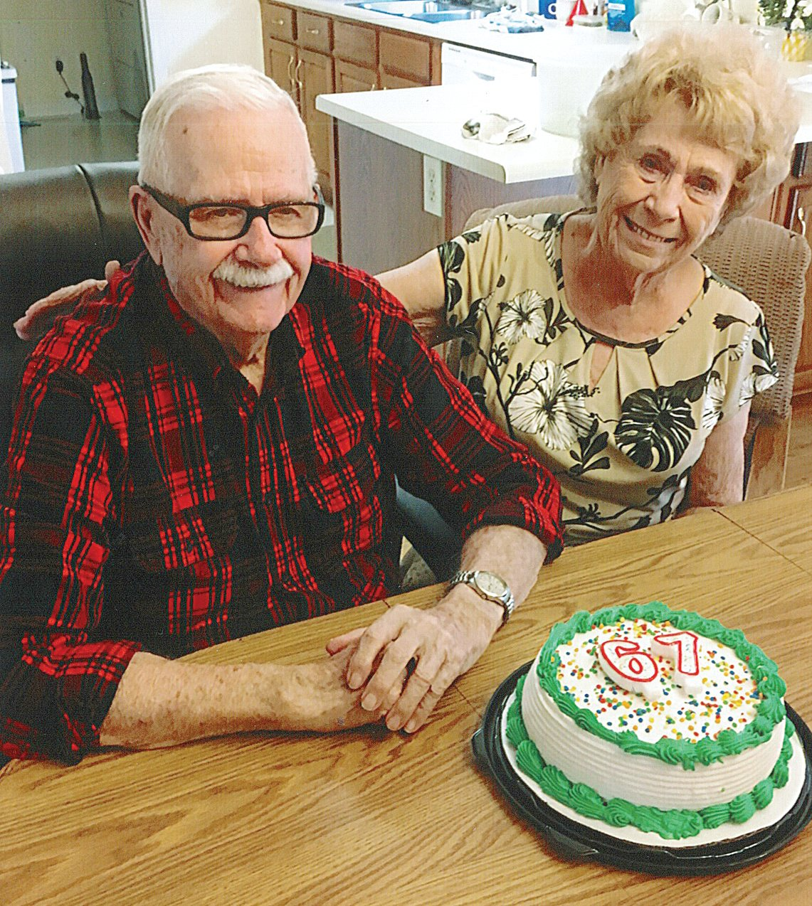 "Mr. and Mrs. Lloyd L. ""Buck"" Eads recently celebrated their 68th wedding anniversary."
