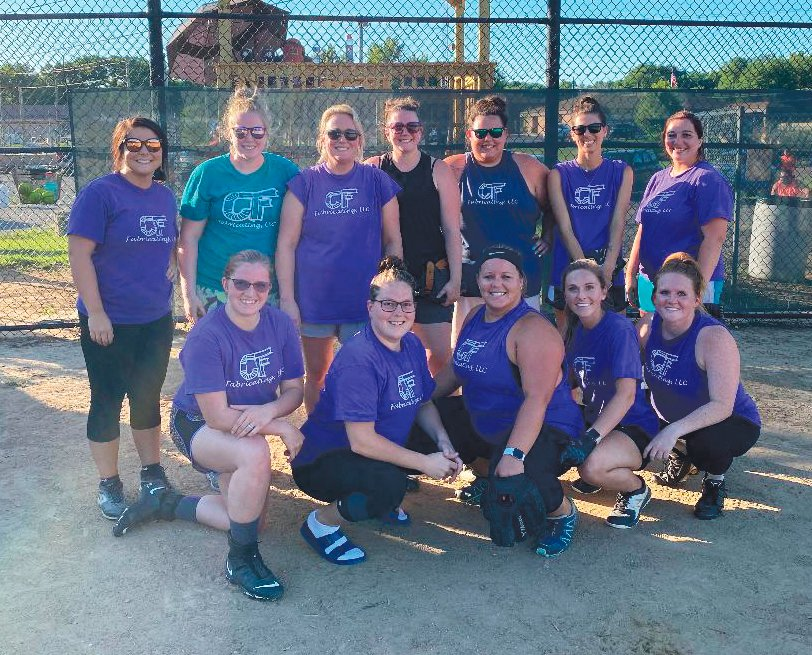 C&F Fabricating defended their title in the Crawfordsville Adult Women's Softball league by going 15-1 in 2020 to win the regular season title. PICTURED ABOVE: Back Row L-R Bayli Mitchell, Leah Reed, Angela Stetler, Sarah Brannon, Karley McCoy, Jessica Dowell, and Alyshia Skelton. Front Row L-R Sam Pigg, Jessica Dale, Emily Jarvis, Corin Runk, and Dominique Fruits. NOT PICTURED: Taylor Taylor, and Courtney Allgood.