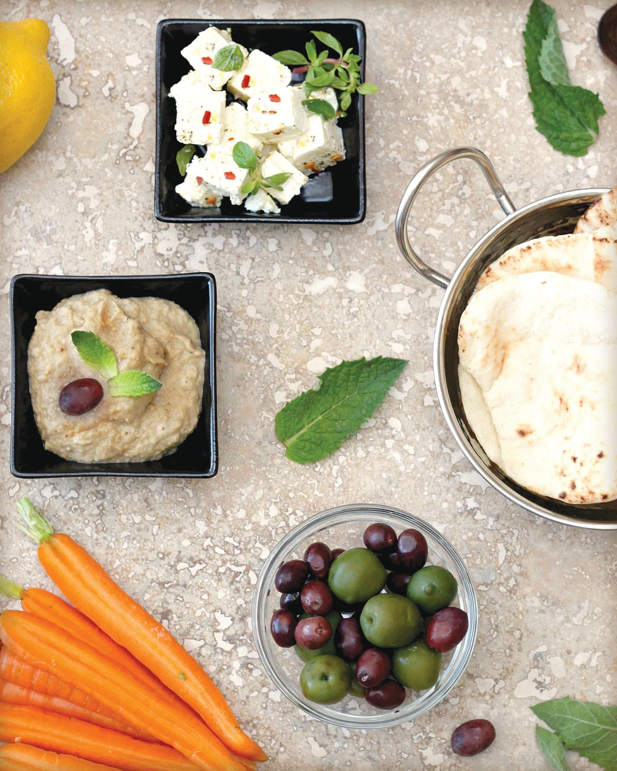This recipe is inspired by baba ghanoush, which is a traditional Middle Eastern dip made with roasted eggplant, tahini and lemon.