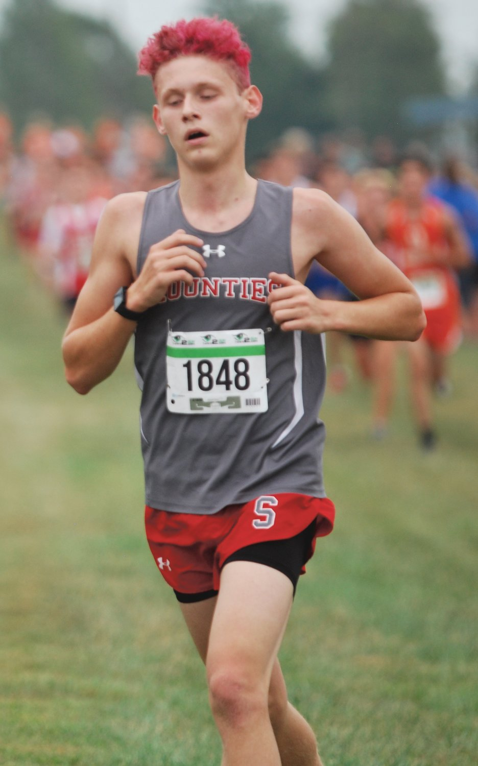Southmont's Aaron Evans led the Mounties with an 11th-place finish in 18:30 at the Charger Classic.