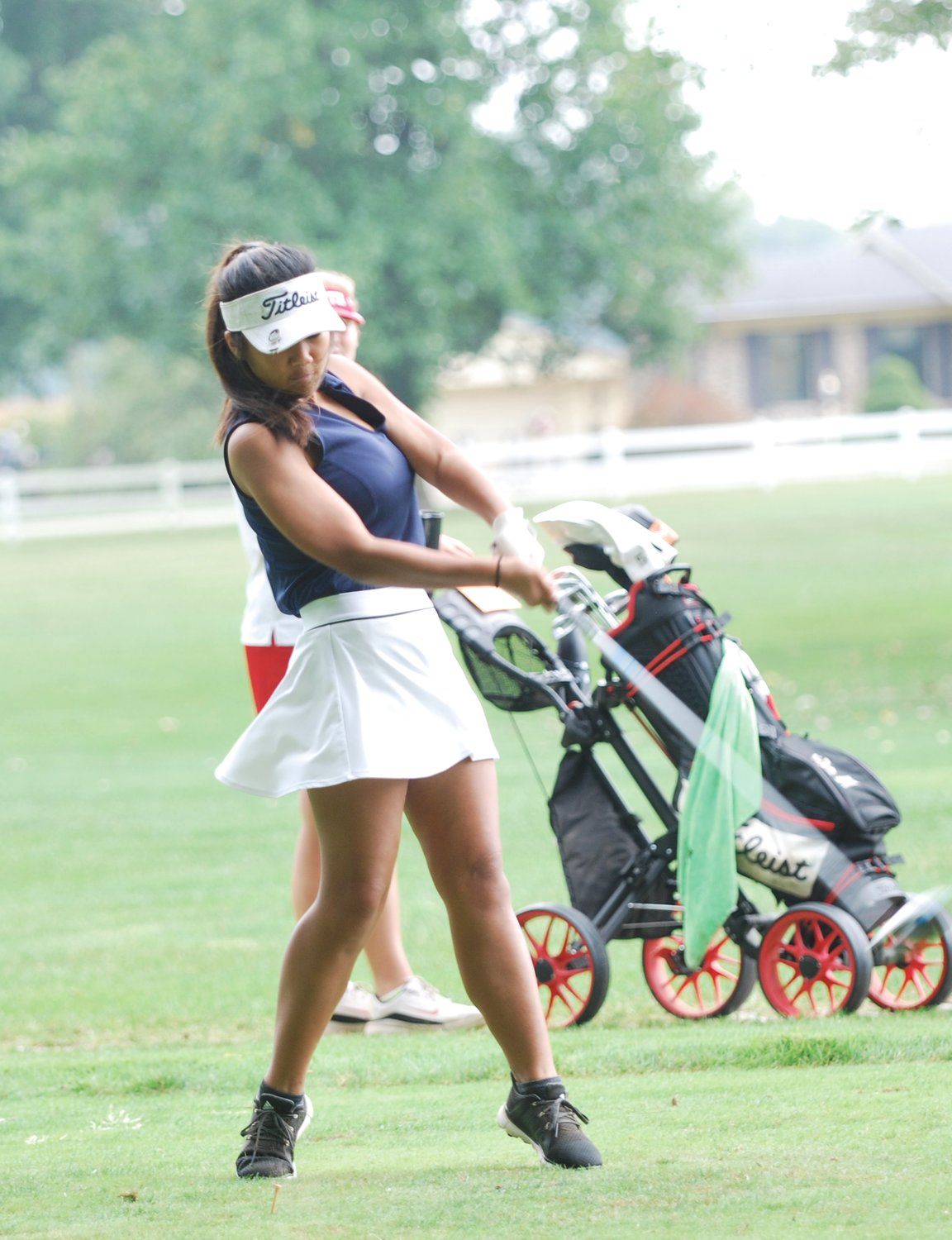 North Montgomery's Grace Littell led the Chargers with a 108 at the Sagamore Conference meet on Saturday at the Crawfordsville Country Club.