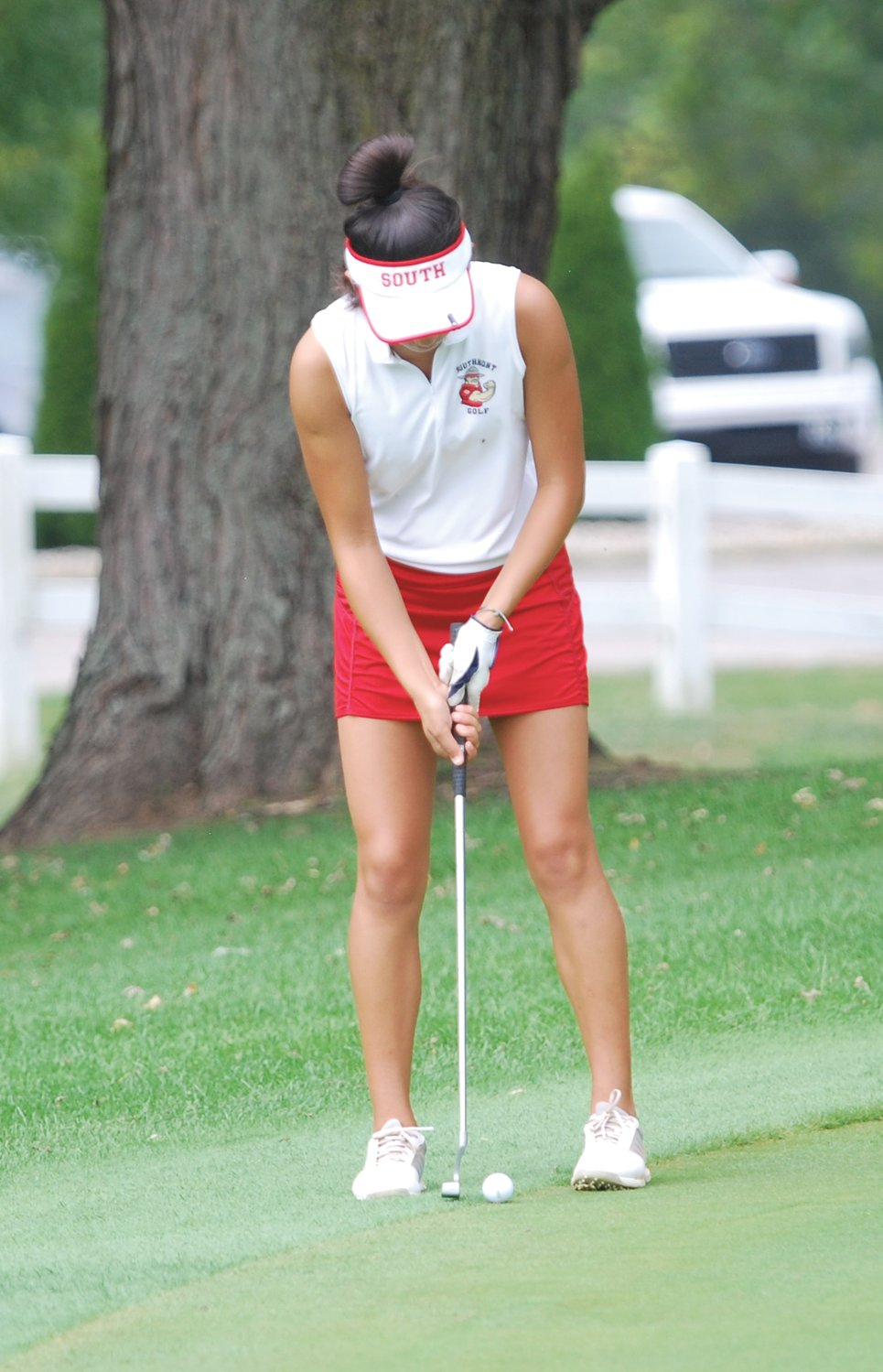 Southmont's Hanna Long shot a 119 at the Sagamore Conference meet on Saturday.