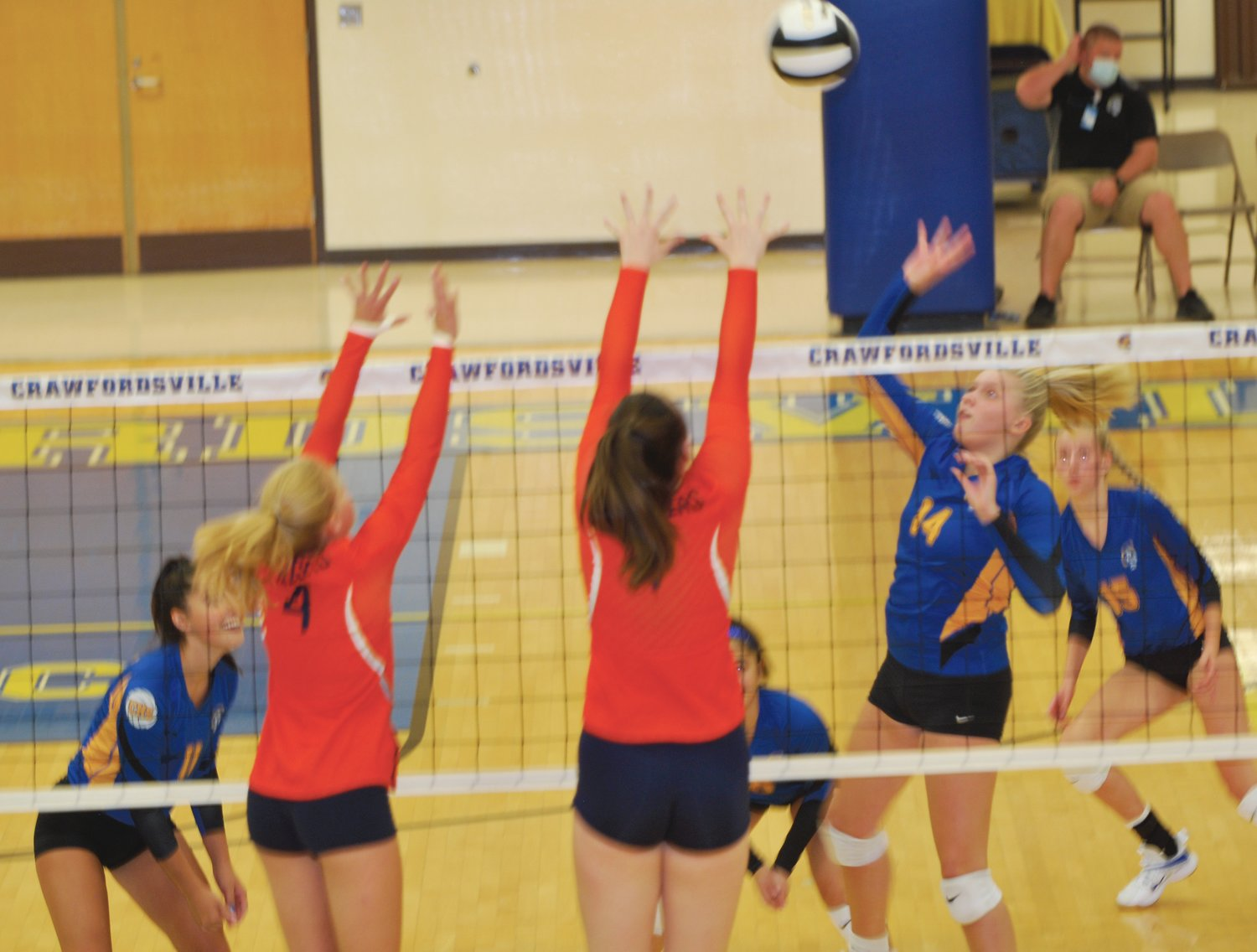 Crawfordsville's Macy Bruton led the Athenians to a sweep over North Montgomery on Thursday.