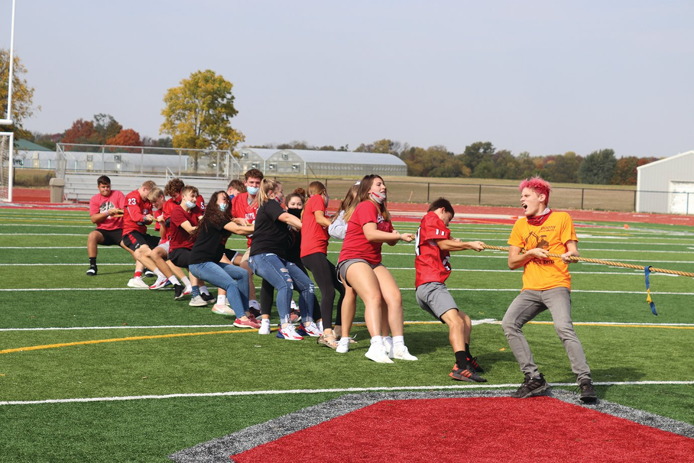 A tug-of-war competition ensues Friday between Southmont sophomores and freshmen.