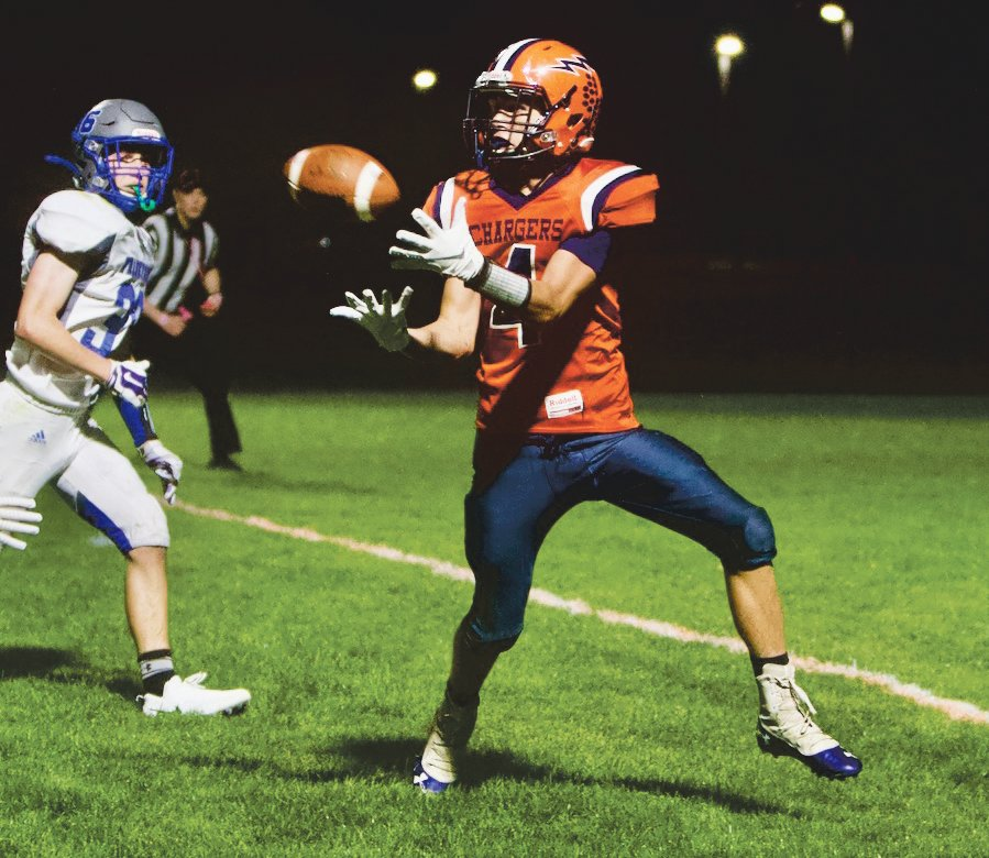 North Montgomery sophomore Gage Galloway totaled 91 yards of offense in the Chargers' 16-14 loss to Frankfort.