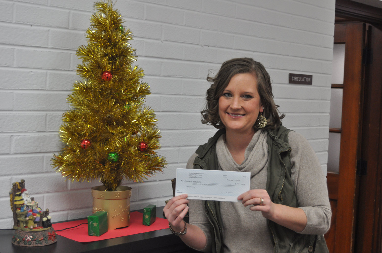 Ashley Bowling was the winner of the Journal Review's Santa photo contest, winning a $200 monetary prize.