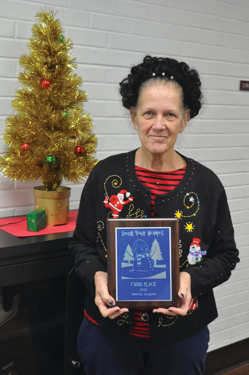 Shirley Largent won third place in the Journal Review
