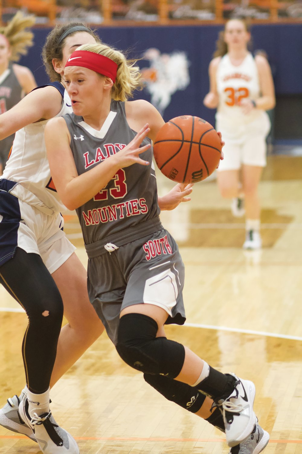 Southmont's Addison Charles looks to score in the Mounties' 55-29 win over the Chargers on Thursday.
