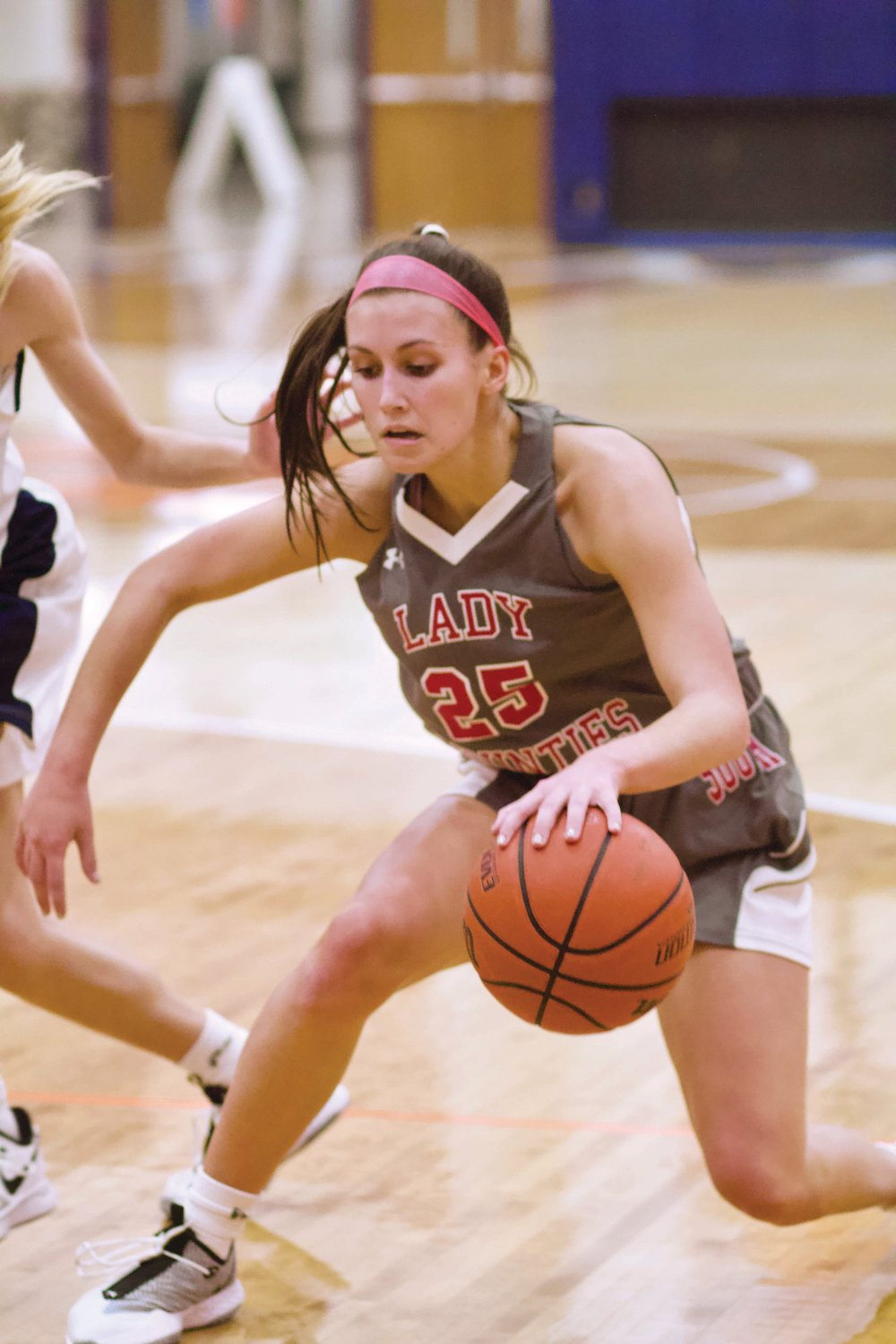 Southmont's Natalie Manion looks to make a move with the basketball. The senior scored six point sin Thursday's win over North Montgomery.