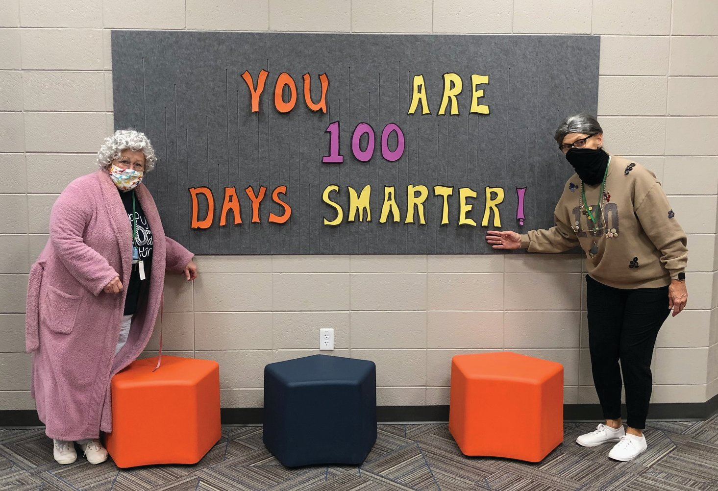 Local schools celebrated the 100th day of in-person classes Thursday with a dress-up day and special activities.
