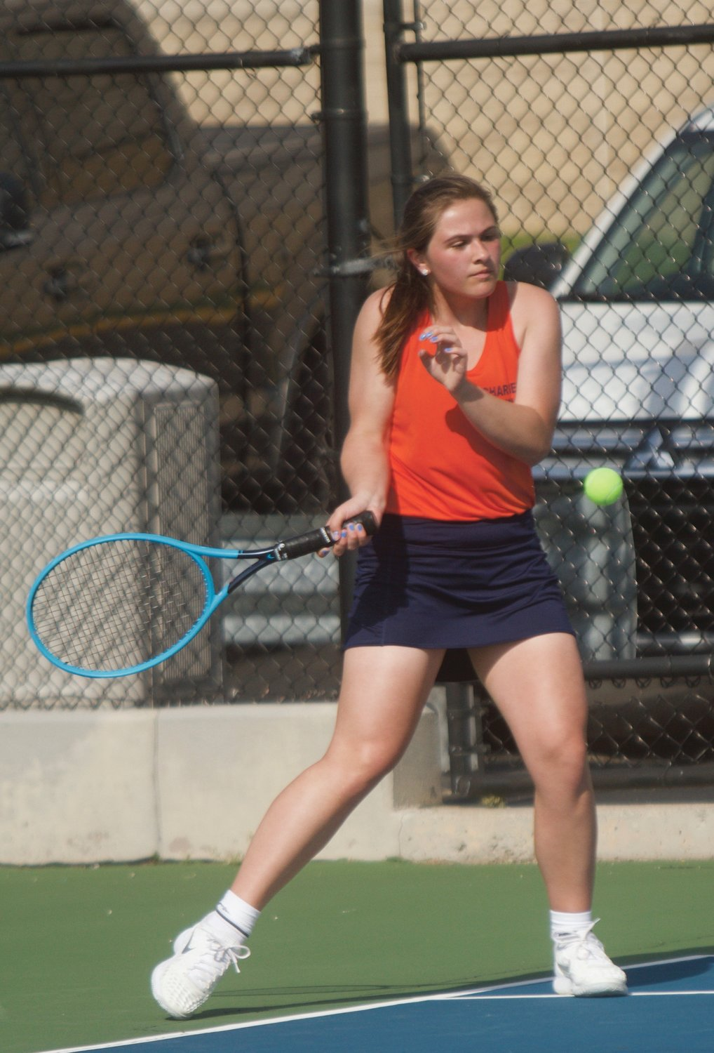 North Montgomery's Kaitlyn Greenlee is the top returner for the Charger tennis team.