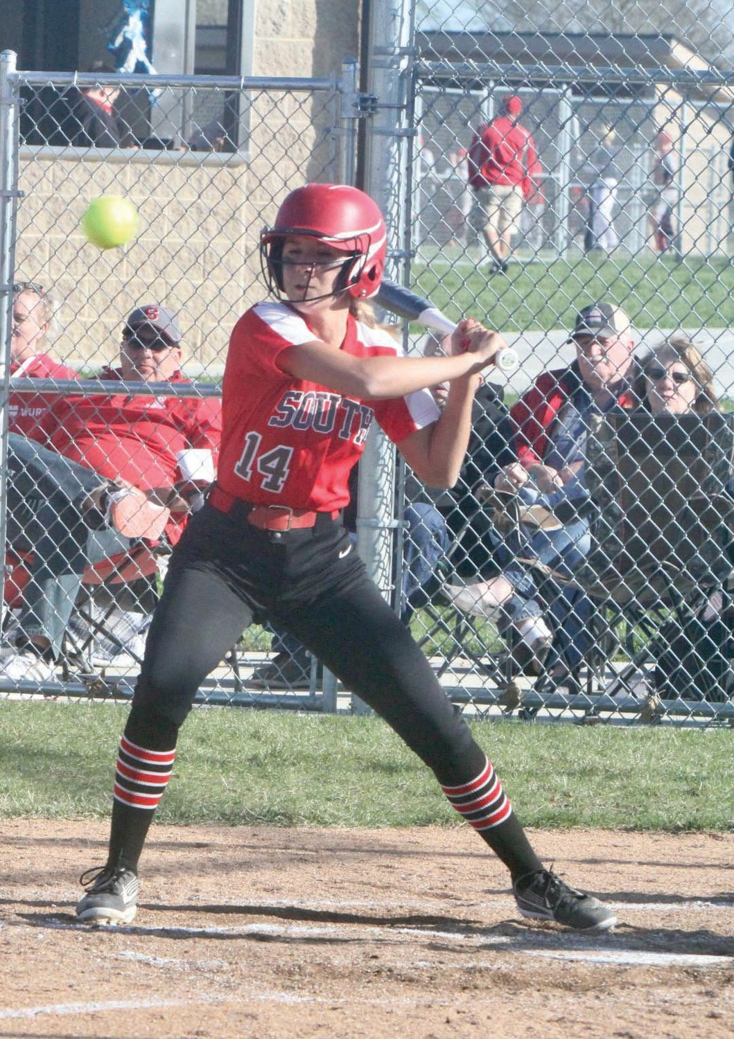 Southmont senior Marissa Craig waits for a pitch against Tri-West.