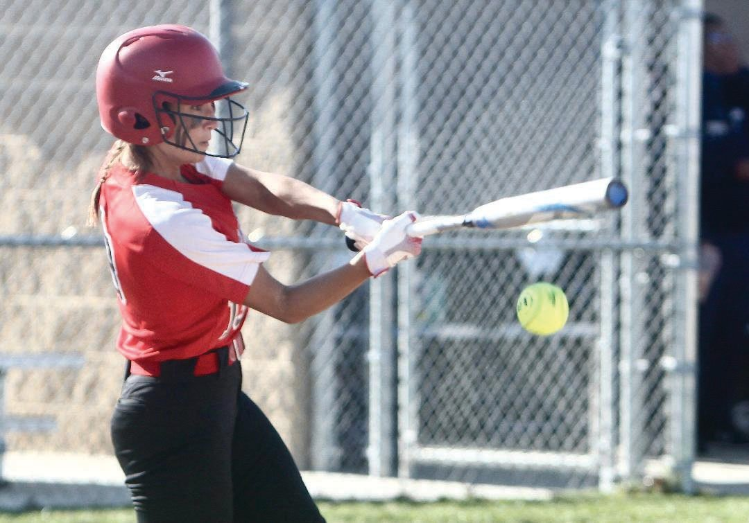 Southmont senior Natalie Manion had one of four Mountie hits on Tuesday night in a loss to Tri-West.
