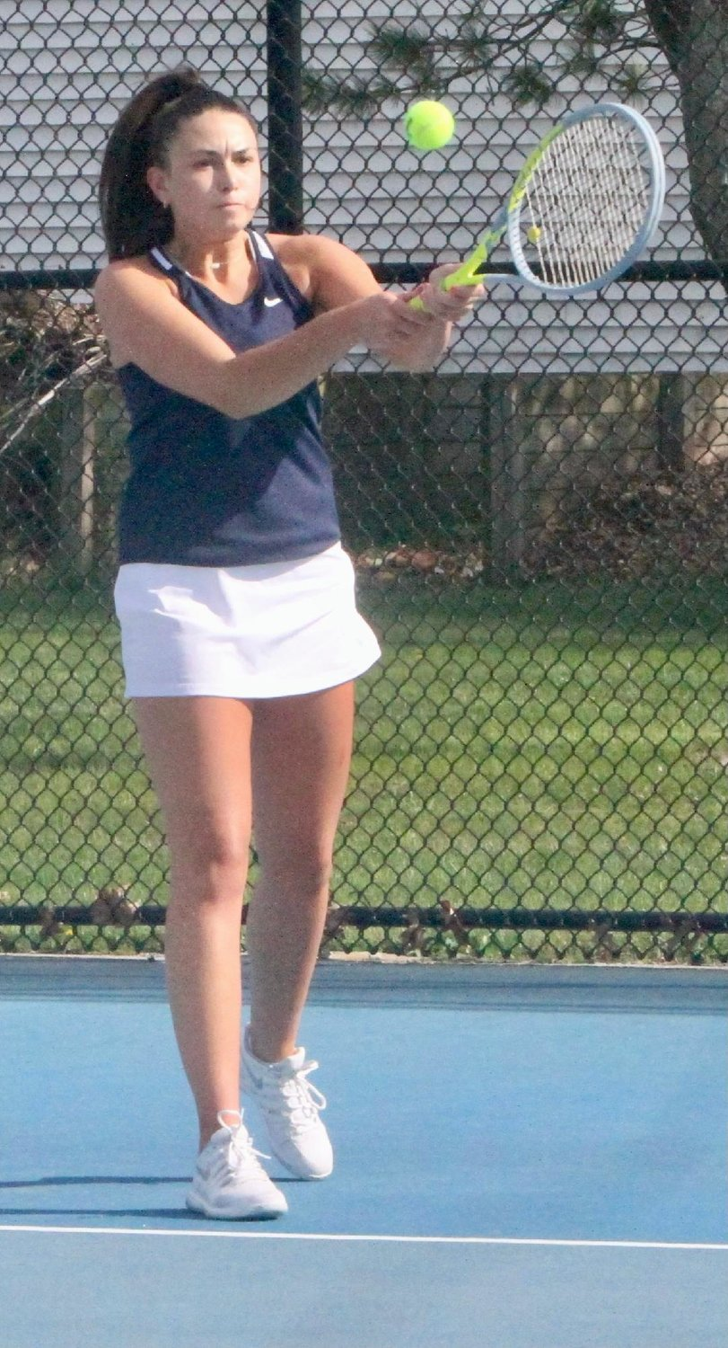 North Montgomery's Carli DeSmet competed for the Chargers on Thursday night at No. 3 singles.
