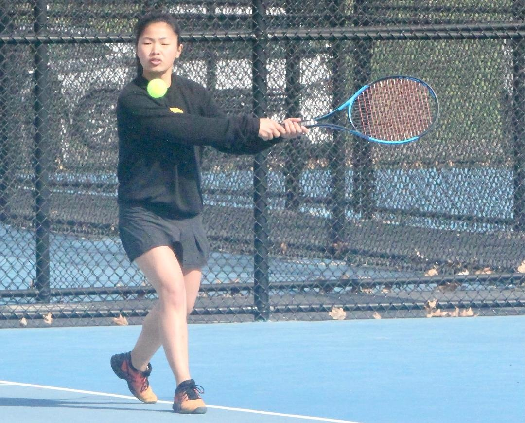 Crawfordsville senior Hannah McLean helped the Athenians defeat North Montgomery with a win at No. 2 singles.