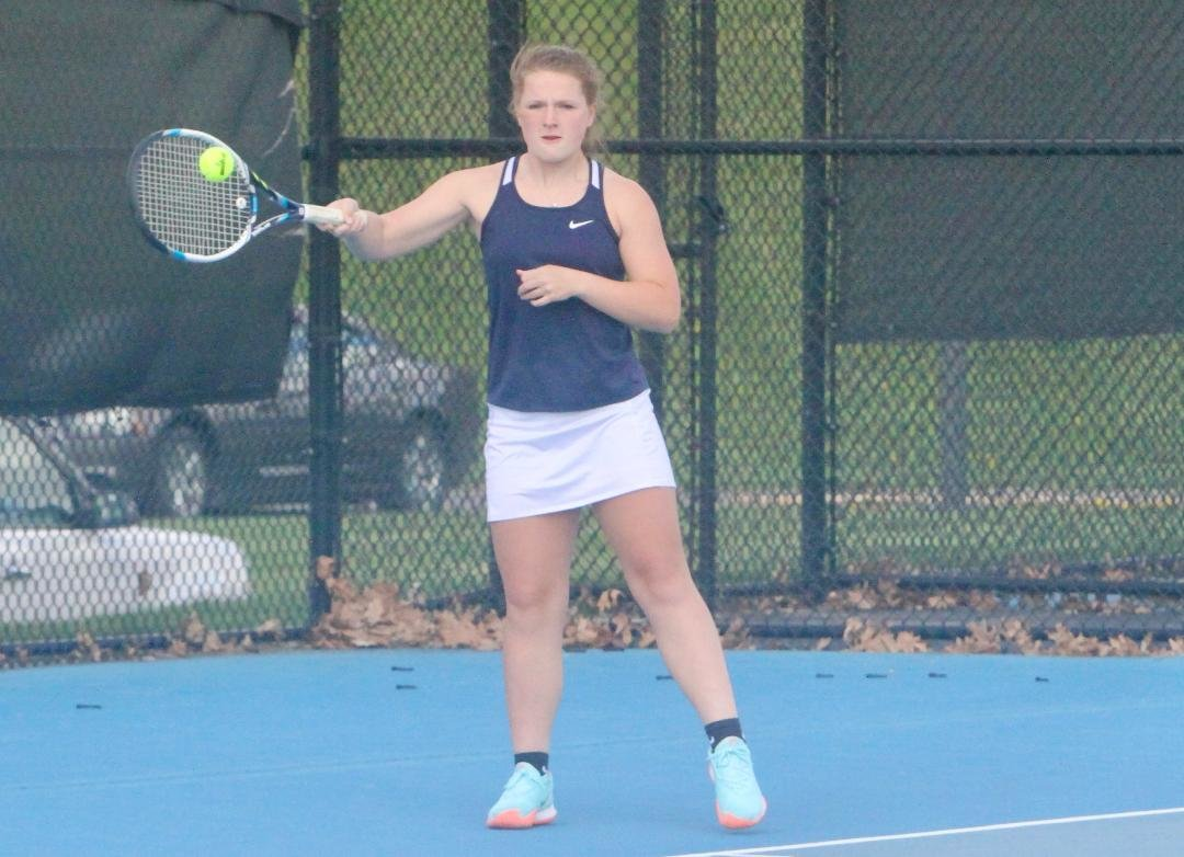 North Montgomery's Sydnee Turner competed at No. 2 singles for the Chargers on Thursday night.