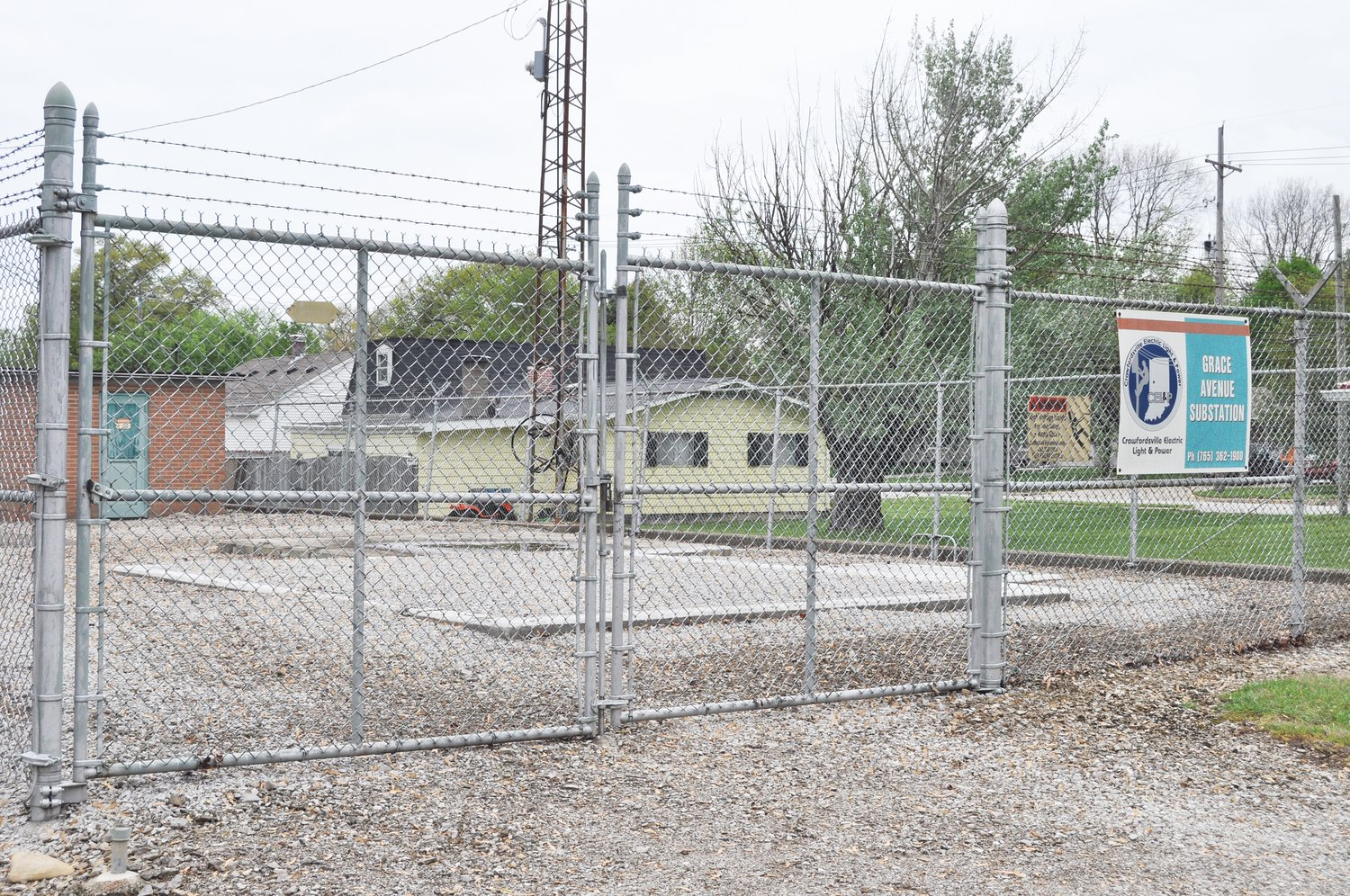 Crawfordsville Electric Light & Power's Grace Avenue substation is shown Tuesday. CEL&P is seeking City Council approval for a 5% rate increase in July, followed by a second increase next year.