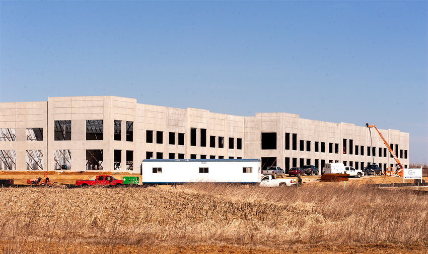 KRM Flex Building under construction at the Duck Creek Business Campus in Smyrna.