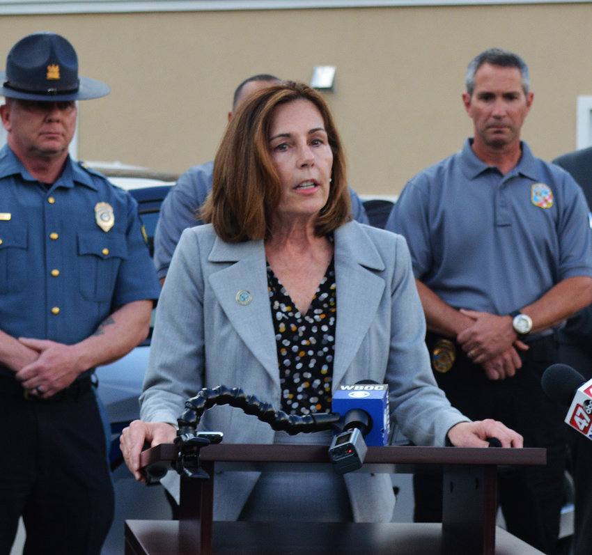 Delaware Attorney General Kathy Jennings announces charges against Randon Wilkerson, arrested in the brutal assault on an elderly Delmar couple and a Delmar police officer the morning on April 25, will be upgraded to include murder with the passing Wednesday of Cpl. Keith Heacook.
