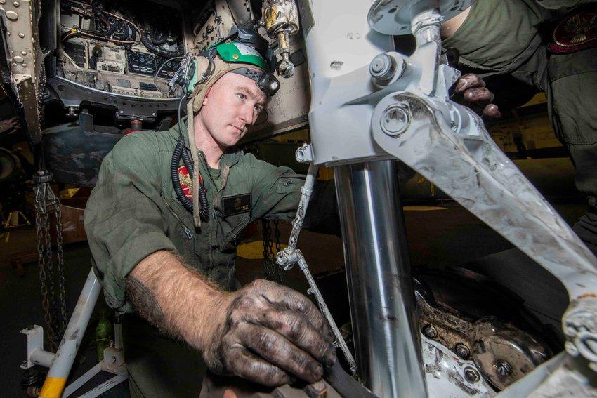 Staff Sgt. Jason Keskemety, a 2009 Smyrna High School graduate and native of Clayton, is serving aboard USS Iwo Jima, a U.S. Navy Wasp-class amphibious assault ship.
