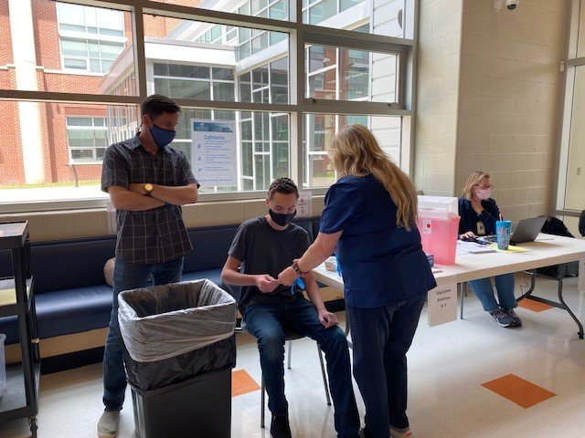 Dover High School hosted a COVID-19 vaccination clinic on Wednesday for the Capital School District.